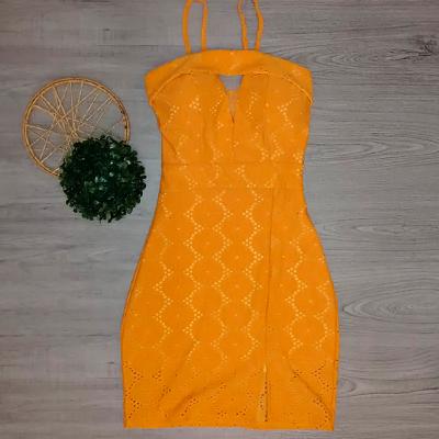Vestido Amarelo Alcinha | Fafá Modas