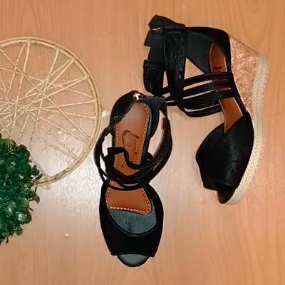 Sandália Salto Anabela | Isabele Calçados