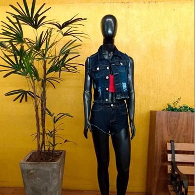 Colete Jeans Adulto | Fafá Modas