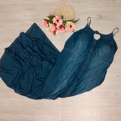 Vestido Longo Jeans | Isabela Magalhães