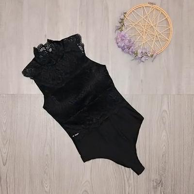 Body Preto Renda | Paraíso Fashion