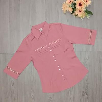 Camisa Feminina Rosa | Visuart Modas