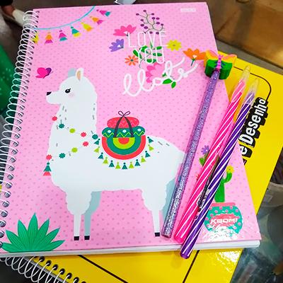 Cadernos Espirais Coloridos | Amor e Papel