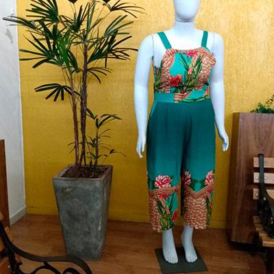 Macacão Pantacourt Estampado | Glamour Moda Feminina