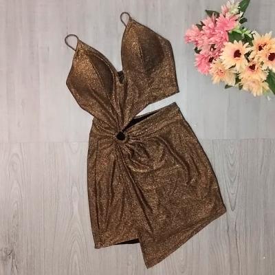 Macaquinho Lurex Bronze | Anne's Closet