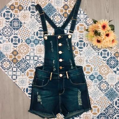 Jardineira Jeans Adulto | Moda Chick