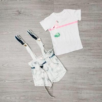 Salopete Jeans Infantil | Pipoca Doce