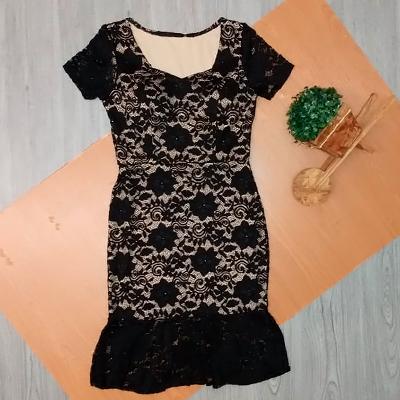 Vestido Renda Preta | Fina e Bela
