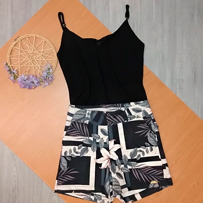 Short Feminino Estampado | Marines Modas
