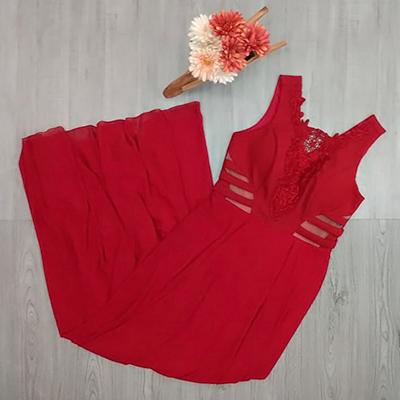 Vestido Longo Vermelho | D Luz Modas
