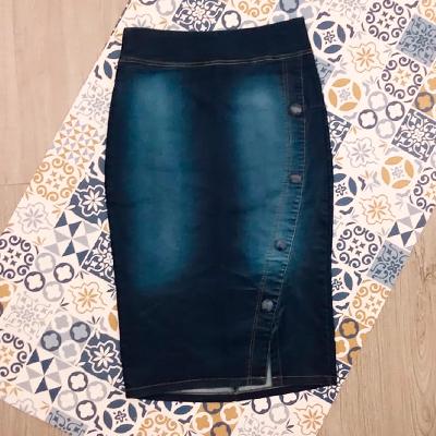 Saia Jeans Midi | Quimicachu