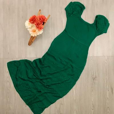 Vestido Longo Tricô | Exclusiva Modas