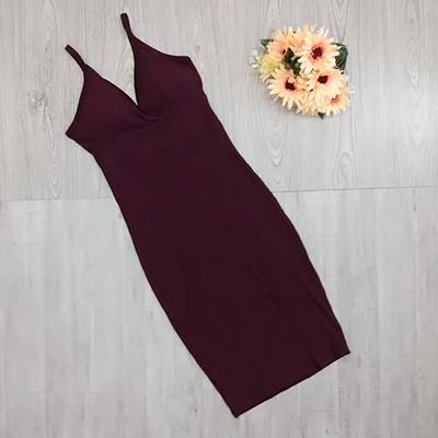 Vestido Canelado Alças | Mônica Modas