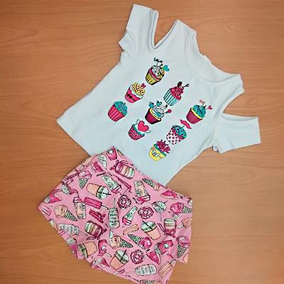 Conjunto Feminino Infantil | By Amal Modas Kids