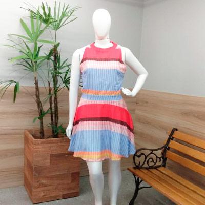 Vestido Midi Color | Val Modas
