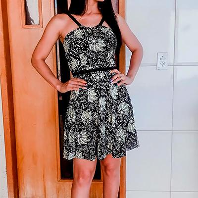 Vestido Curto Malha | Rosa Bella Moda Feminina