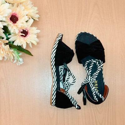 Sandália Amarração Corda | Marcia Luciene Calçados