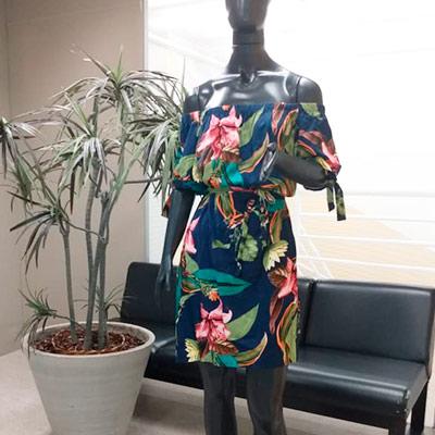 Vestido Viscose Estampado | Art Lú Modas
