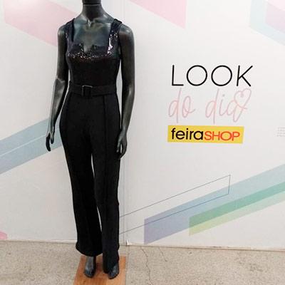 Macacão Com Paetê | Vitrine Fashion