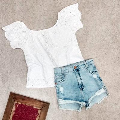 Short Jeans Desfiado | Brilho da Moda