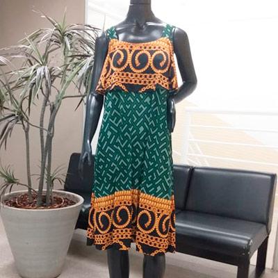 Vestido Midi Estampado | Liliane Criações