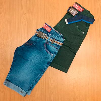 Bermuda Jeans Infantil | Pé de Vento Moda Infantil
