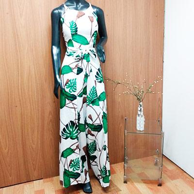 Macacão Pantalona Estampado | Ponto da Moda