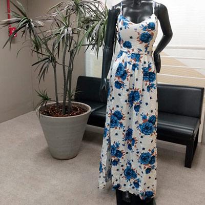 Vestido Longo Estampado | Santíssima