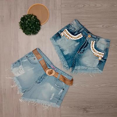 Short Jeans Feminino | La Donna