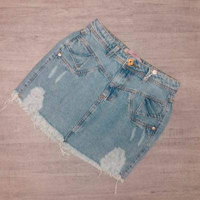 Saia Jeans Feminina | La Donna