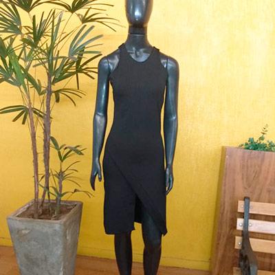 Vestido Midi Preto | Veste Bem Modas