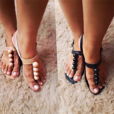 Sandália Rasteirinha Bolinhas | Carol Calçados