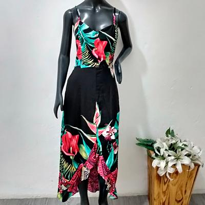 Vestido Longo Estampado | Primícias