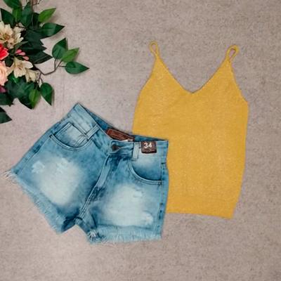Conjunto Short e Camiseta | Byanca Modas