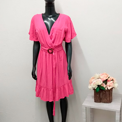 Vestido Midi Pink | Impacto Moda e Acessórios