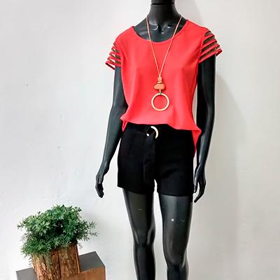 Conjunto Blusa e Short | Cacau Modas