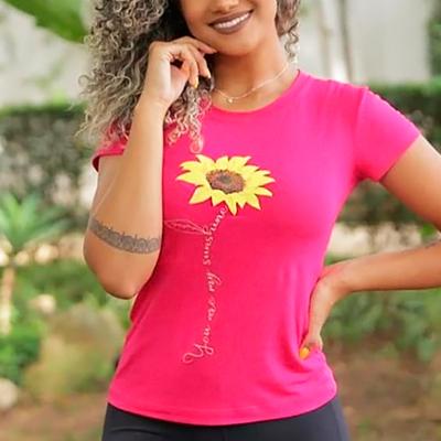 Blusa Estampada Flower   Bia Fashion
