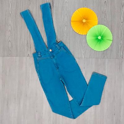 Salopete Jeans Adulto | Kaká Modas