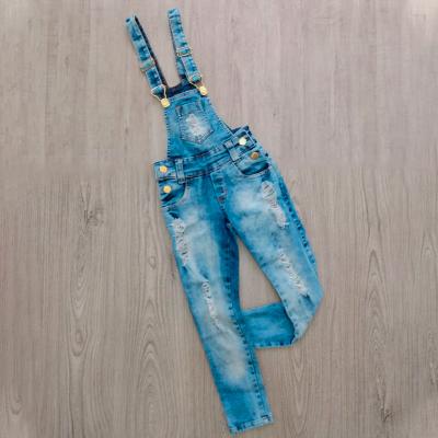 Jardineira Jeans Infantil | Brinc'Art
