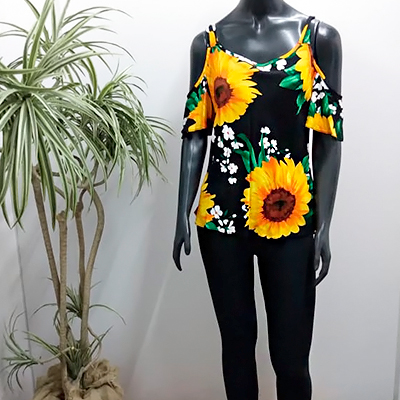 Blusa Feminina Flower | Q Bonita