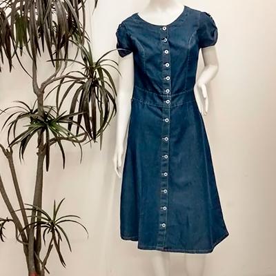 Vestido Midi Jeans | Bless Moda Evangélica