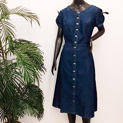 Vestido Jeans Botões | Bless Moda Evangélica
