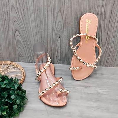 Sandália Rasteirinha Dourado | Lírio Star Calçados