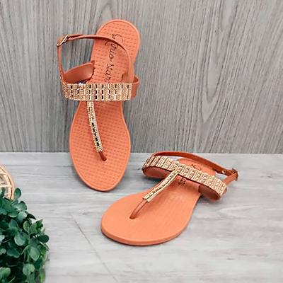 Sandália Rasteirinha Bronze | Lírio Star Calçados