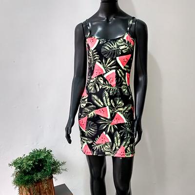 Vestido Suplex Estampado | Sandrelê
