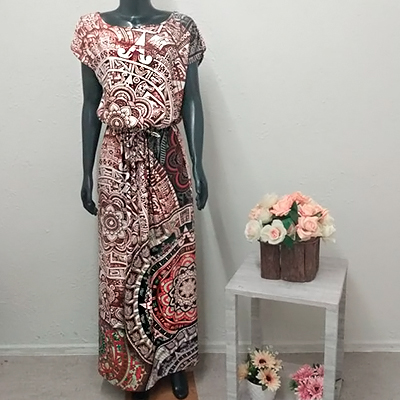 Vestido Longo Estampado | Villa Luxo
