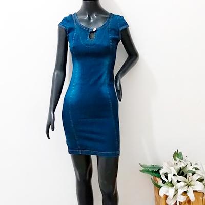 Vestido Curto Jeans | Linda Flor