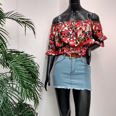 Blusa Ciganinha Estampado | Lindona Modas