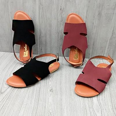 Sandália Rasteira Color | Rafanda Calçados