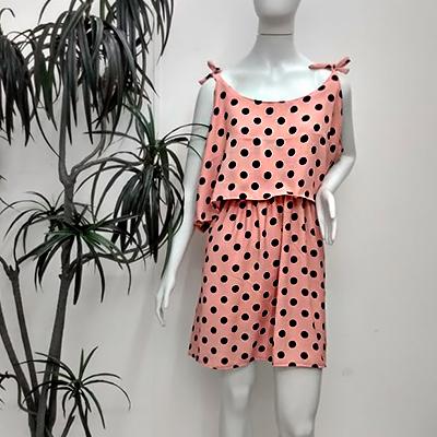 Vestido Curto Poá | Doralina Moda Maior